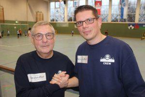 Organisatoren Sparkassen-Cup Helmut Hanhardt und Frank Weber